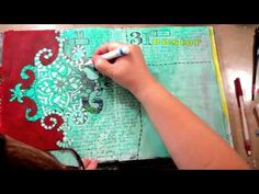 """I work on my art journal in small bursts each day.  I decided to film myself for seven days, working in my journal, so you could get a sense of how things come together over a week for me.  This is the style of art journaling I teach in my """"30 Days in Your Journal"""" online class.  The music is from Stan Getz.  Thanks for watching!"""