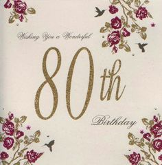 80th Birthday Stamped Card