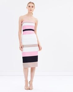 f92709950fa6 Buy Colour Block Strapless Dress - THE ICONIC Exclusive by BY JOHNNY. online  at THE
