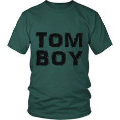 """TomBoy"" (black print) - Unisex Tees"