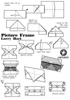 Porta Retrato de Origami - Design de Larry Hart
