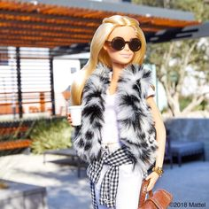 """40.5k Likes, 143 Comments - Barbie® (@barbiestyle) on Instagram: """"Layering my faux fur look the LA way! Mixing and matching for a day on the go. 💖 #barbie…"""""""