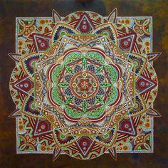 Spica 120 x 120 cm Acrylic on wood