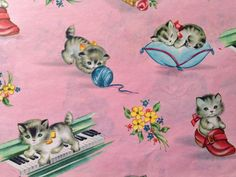 Vintage Gift Wrapping Paper  Juvenile Kid's by TheGOOSEandTheHOUND, $6.00