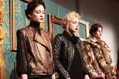 textures and layers for fall {love the leather jacket in the center}