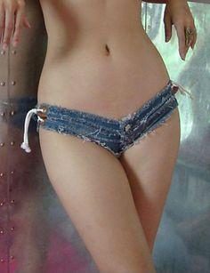 Women's Solid Blue Jeans / Denim Shorts Pants,Sexy / Club