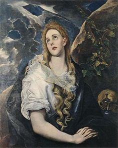 El Greco St Mary Magdalene oil painting for sale; Select your favorite El Greco St Mary Magdalene painting on canvas or frame at discount price. Caravaggio, Renaissance Espagnole, Maria Magdalena, Renaissance Kunst, Oil Painting Reproductions, Religious Art, Michelangelo, Art Museum, Art History