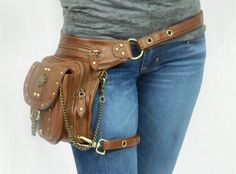 Outlaw Pack - (Brown) Thigh Holster, Protected Purse, Shoulder Holster, Handbag, Backpack, Purse, Messenger Bag, Fanny Pack