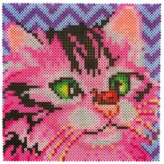 <p>This sweet strawberry kitten is cross-eyed checking out the ladybug on her nose! This fun project is created in fantasy shades of pink, but of course you can make the project completely your own by changing the bead colors.</p>