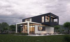 8 Modern House Outside Design Modern Exterior House Designs, House Paint Exterior, Exterior Paint Colors, Exterior House Colors, Modern House Design, Modern Interior Design, Exterior Design, Exterior Doors, House Outside Design