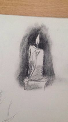 #sketch #drawing #black #and #white #candle #fire