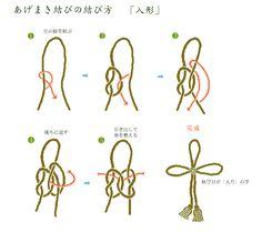 紐結び Decorative string あげまき結び
