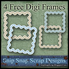 Snip Snap Time to Scrap: Free Brown and Tan Curvy Digi Scrapbook Frames