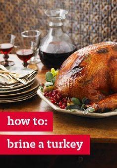 How to: Brine a turkey