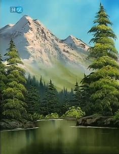 Trendy Painting Bob Ross Landscape Ideas - Photography İdeas,Photography Poses,Photography Nature, and Vintage Photography, Mountain Paintings, Nature Paintings, Beautiful Paintings, Beautiful Landscapes, Landscape Paintings, Landscapes To Paint, Oil Paintings, Bob Ross Landscape, Landscape Photos