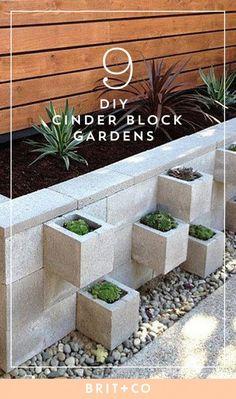 Garden Design 9 DIY Cinder Block Gardens That Will Make You Want to Grab Your Gardening Tools Cinder Block Walls, Cinder Block Garden, Cinder Blocks, Cinder Block Ideas, Cinder Block Bench, Diy Garden Projects, Garden Tools, Landscape Design, Garden Design