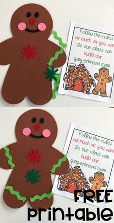 TEACH YOUR CHILD TO READ - Free Christmas poem for December! This is great for literacy, fluency, and behavior management! - Super Effective Program Teaches Children Of All Ages To Read. Christmas Poems, Preschool Christmas, Toddler Christmas, Preschool Crafts, Preschool Ideas, Preschool Learning, Learning Resources, Gingerbread Man Activities, Christmas Activities