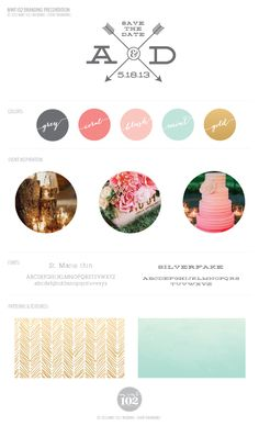 A & D Wedding Brand Board
