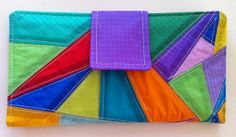 Womens Clutch Wallet Recycled Paraglider Geometric by OffChutes