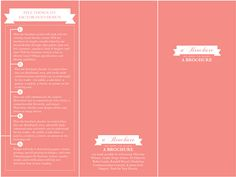 a brochure on how to make a brochure on Behance