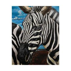 NOVICA Peruvian Realist Zebra Painting in Oils on Canvas (40.985 RUB) ❤ liked on Polyvore featuring home, home decor, wall art, paintings, realist paintings, canvas painting, african wall art, portrait painting, canvas oil paintings and eye painting