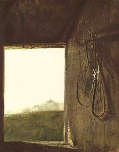 Andrew Wyeth (1917 — 2009, USA) Burning Off. 1961 watercolor. 11 3/4 x 9 3/16 in. (29.8 x 23.3 cm.)