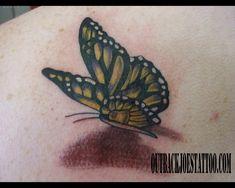Lovely 3d Butterfly Tattoo