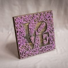 Love String Art Purple by EloquentDecor on Etsy