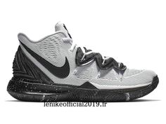 """Nike Kyrie 5 EP """"Cookies and Cream"""" Blanc Noir AO2919-100 Chaussure de Basketball Pas Cher Pour Homme"""