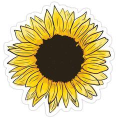 Cute Laptop Stickers, Cool Stickers, Sunflower Art, Yellow Sunflower, Aesthetic Stickers, Aesthetic Backgrounds, Yellow Theme, Sunflower Wallpaper, Skateboard Design
