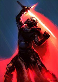 Kylo Ren from Star Wars - The Force Awakens by Noé Leyva Star Wars Sith, Star Wars Kylo Ren, Star Wars Pictures, Star Wars Images, Star Wars Characters, Star Wars Episodes, Luke Skywalker, Chewbacca, Cuadros Star Wars