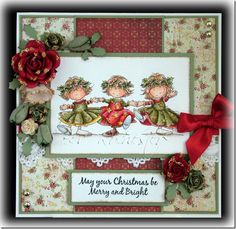 Lili of the Valley images that Bev Rochester works with. Homemade Christmas Cards, Christmas Cards To Make, Christmas Angels, Xmas Cards, Homemade Cards, Holiday Cards, Scrapbooking, Scrapbook Cards, Christmas Scrapbook Pages