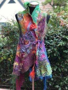 Nuno Felted Seamless Vest.  Studio 907: Gallery