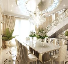 The Chic Technique:  All white dining room