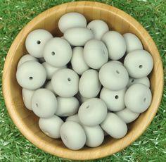 Abacus Silicone Bead 10pk - Cool Grey - Silicone Beads Australia™