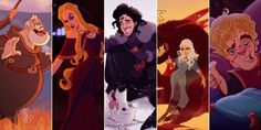 Game of Thrones Disney Characters