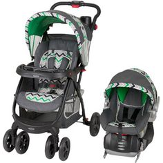 Baby Trend Encore Lite Travel System, Stone Green Love the pattern!