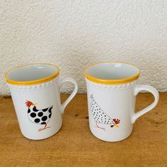 Henkeltasse Hühner Porcelain, Mugs, Tableware, Gifts, Men, Cool Presents, Color Yellow, Porcelain Ceramics, Dinnerware