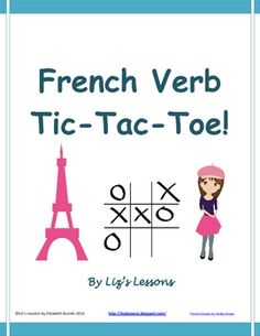 $ Looking for a fun way to get your students to practice conjugating verbs? Try verb tic-tac-toe!