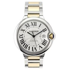 Cartier Men's W69009Z3 Ballon Bleu Stainless Steel and 18K Gold Automatic Watch. Buy best luxury watches for men