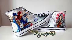 Assassins Creed custom canvas shoes high tops by DecoroZapatillas