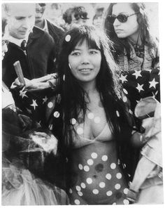 Yayoi Kusama at love in festival, Central Park New York USA, 1968