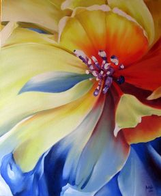 Gustavo Pardo- Creative, like trying new things. Action Painting, Watercolor Flowers, Watercolor Paintings, Georgia O'keefe Art, Silk Art, Arte Floral, Silk Painting, Flower Art, Art Drawings