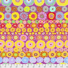 Coupon de Tissu Kaffe Fassett Lotus Leaf Purple 45x55cm