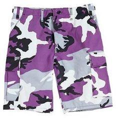 Purple Camouflage BDU Shorts (Purple Shorts) - $21.99 - $26.95 at The Purple Store