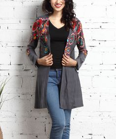 Look at this Charcoal Garden Cardigan on #zulily today!