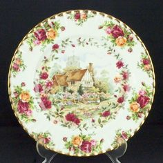 Royal Albert Old Country Roses Cottage Plate 1st Quality VGC