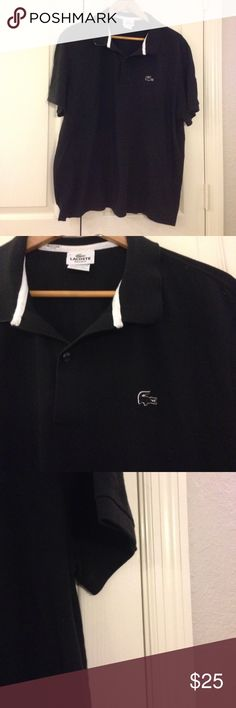 🎉HOST PICK 9/18🎉 Lacoste Regular Fit Polo Shirt Black. 100% cotton. Size XL. Lacoste Shirts Polos