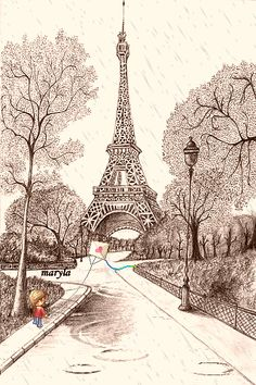 paris animated things | Cute Paris Wallpaper