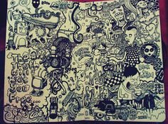 Drawing Doodles Sketchbooks 50 Beautiful Sketchbook Drawings for Inspiration Sketchbook Drawings, Artist Sketchbook, Art Drawings, Graffiti Drawing, Sketching, Illustrations, Photo Illustration, Art Nouveau, Doodle Art Letters